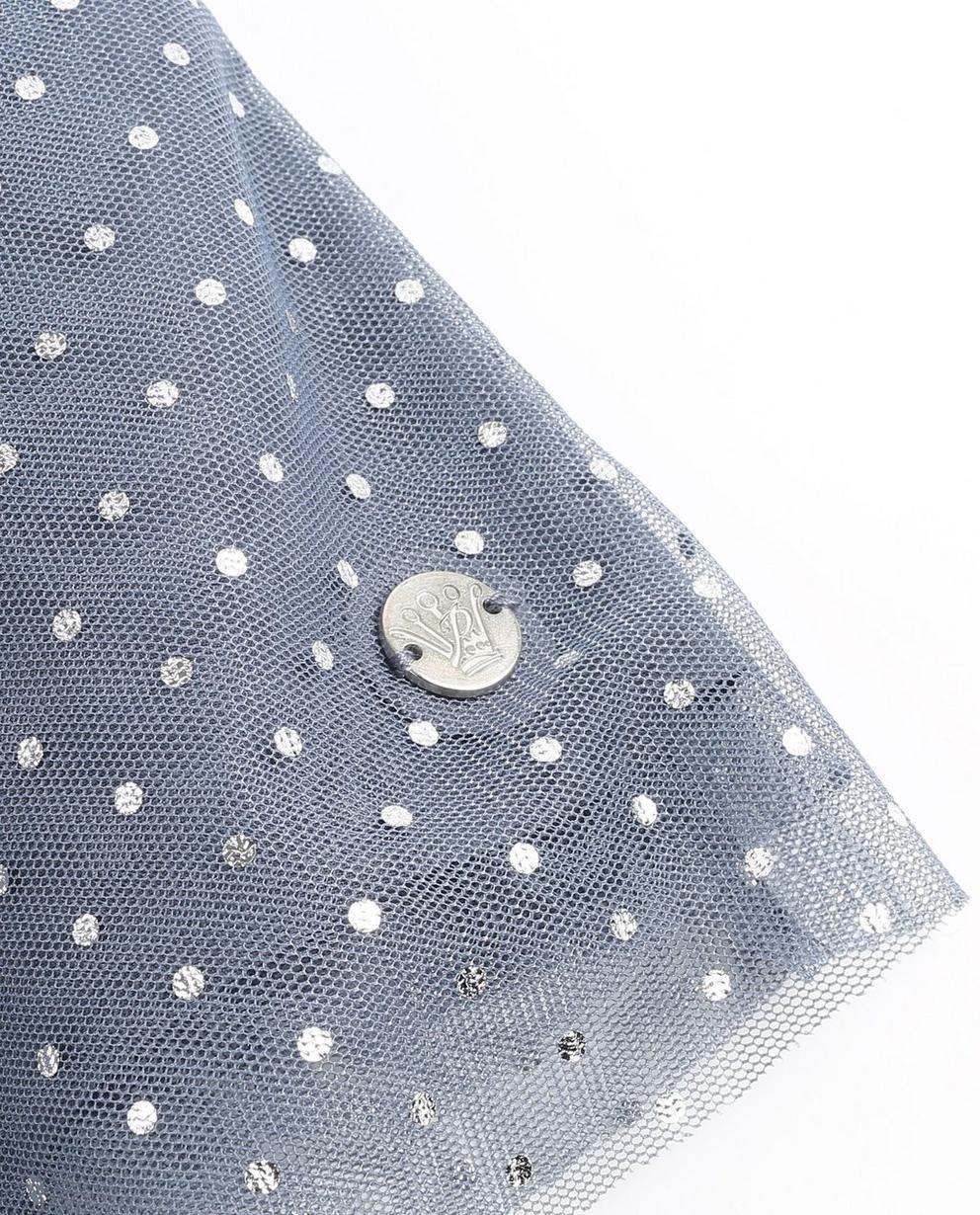 Kleider - Blassgrau - Blauwgrijze velvet jurk Prinsessia